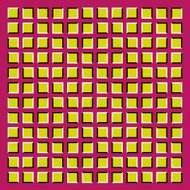 Rolling squares moving wave motion effect. Op Art Vector.