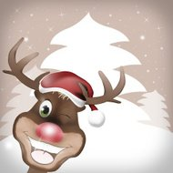 Rudolph Red Nose Happy Christmas Design