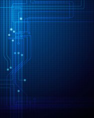 Illustration Blue abstract technology circuit background