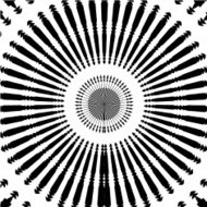 abstract black and white round style shape background