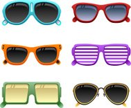 colorful sunglasses set 1