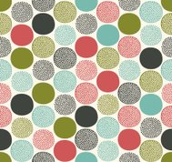 seamless dots geometric pattern