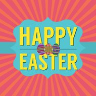 Happy Easter Vector Illustration