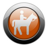 Icon, Button, Pictogram Horse Trail