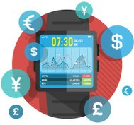 Smart watch for stock exchange