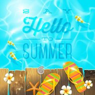 Vacations illustration with summer holidays greeting