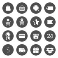 E-commerce and Online Shopping Circle Icons