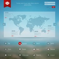 Vector map, web and mobile template.