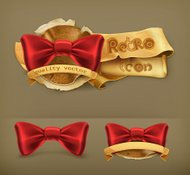 Bow tie, retro icon