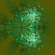 Fabulous fractal pattern in green. Collectiont - tree foliage.
