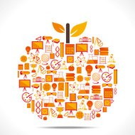 creative educational apple