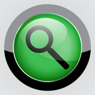 Vector search icon background.