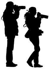 Man and women with camera