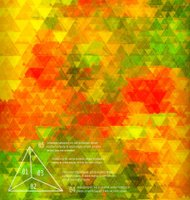 Blurred golden poppy triangle mosaic template