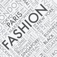 Fashion word tag cloud typography texture background vector