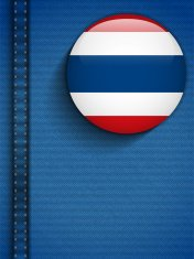 Thailand Flag Button in Jeans Pocket
