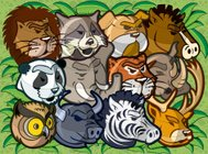 Wild animals pack