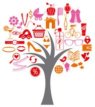 Women life represented by a tree