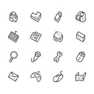 computer_element_vector_icon_set_on_white_background