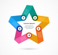Abstract colorful background infographic with star