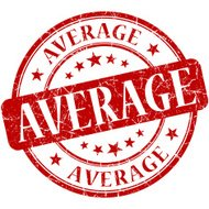 Average red round grungy vintage isolated rubber stamp