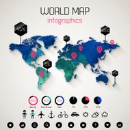 Set elements of infographics.