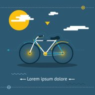 Travel & Healthy Lifestyle, Symbol Bicycle Modern Flat Design Te