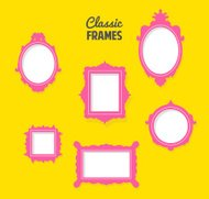 set of classic frames silhouettes
