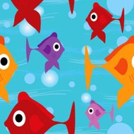 Tropical fish seamless wallpaper background tile