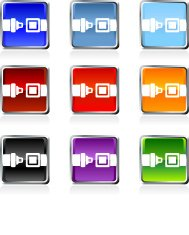 seatbelt royalty free vector art in nine colors
