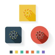 Science Flat Icon Design Kit Set Collection