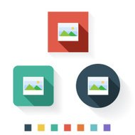Image Flat Icon Design Kit Set Collection