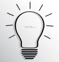 Light bulb. Vector illustration.