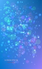Abstract Colorful Background with Magic Particles. Vector