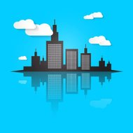 Abstract City Scape Vector Illustration