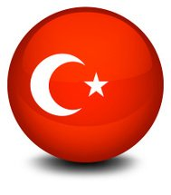 Soccer ball with the flag of Turkey