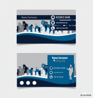 Abstract creative business card template, vector illustration.