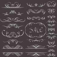 calligraphy decorative borders, ornamental rules, dividers
