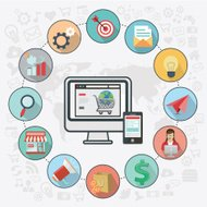 online shopping or eCommerce icons