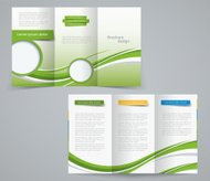 Three fold brochure template, corporate flyer or cover design