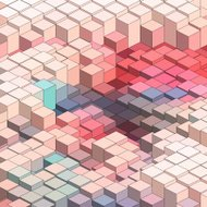 abstract colorful 3D technology check pattern background