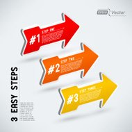 3d Colorful Arrows - Red