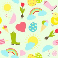 Colorful fresh Spring seamless background pattern