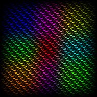 Abstract spectrum dark background with colored sparkles.