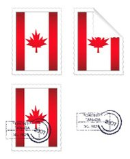 Canadian Flag Stamp Set