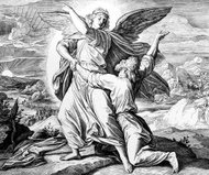 Jacob wrestles with the angel of god