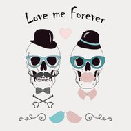 Conceptual Love Me Forever Funny Vector Illustration