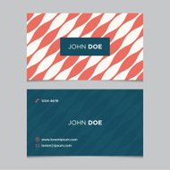 Business card template with background pattern 06
