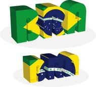 Brazil Flag in puzzle