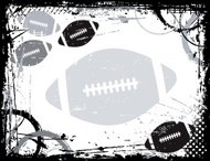 Football Grunge Border